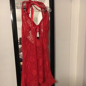 Other - Red Lace Nightie/Chemise Lingerie, NWOT